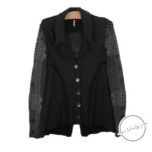 Free People Cardigan Sweater Jacket Raw Edge